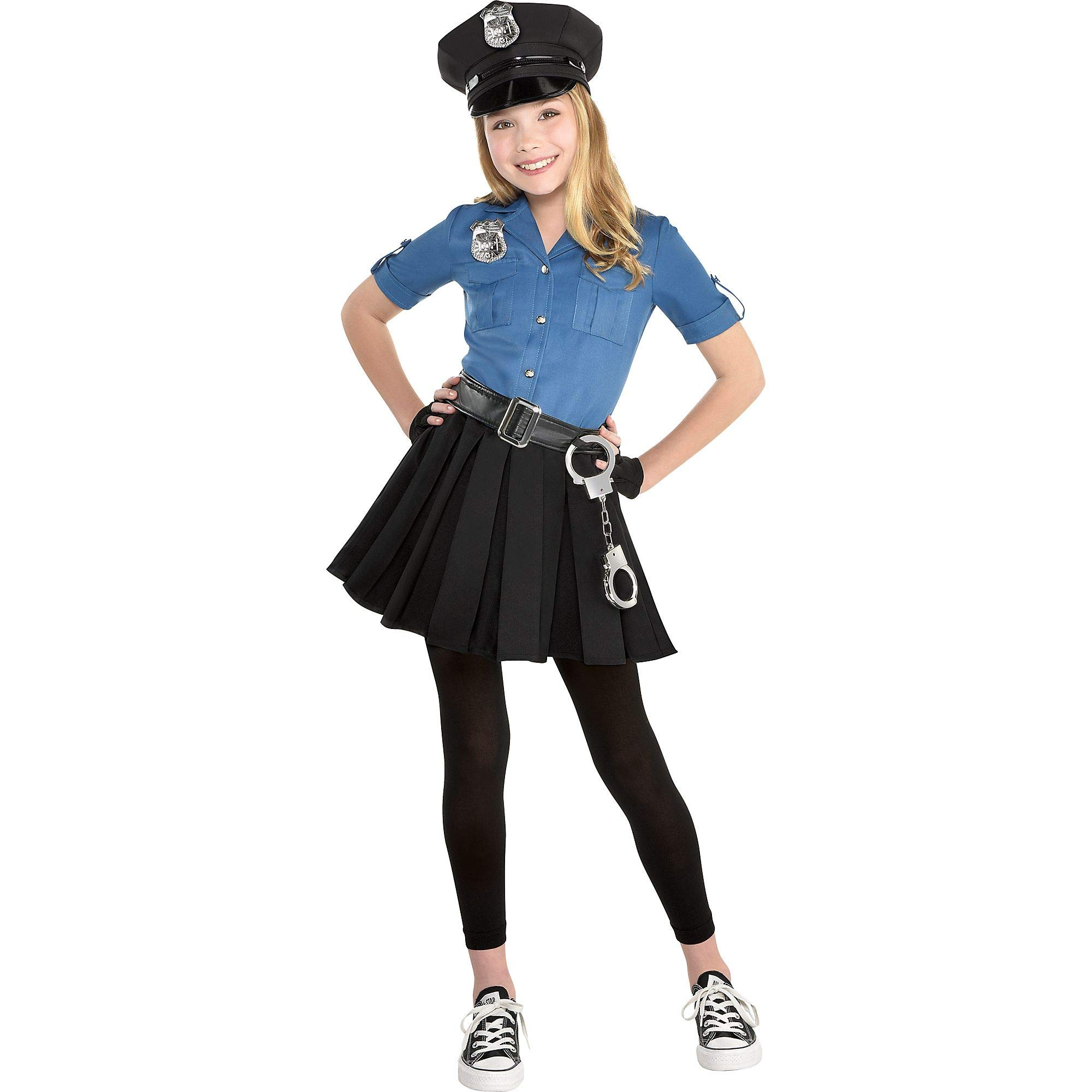 Police Dress Halloween Costume for Girls, Medium, with Included Accessories, by Amscan