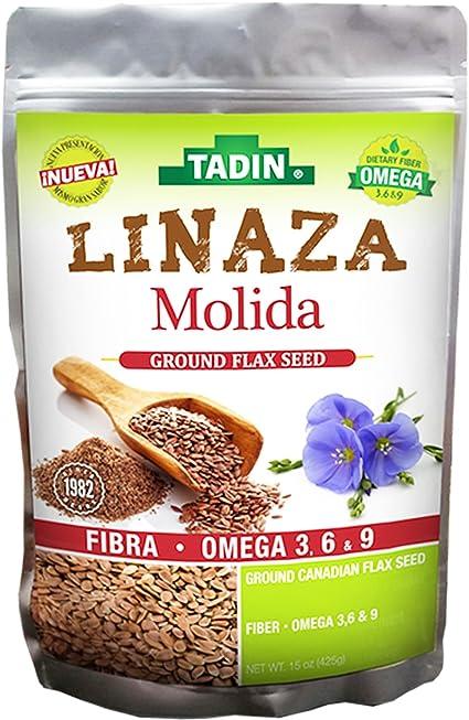 Tadin Linaza-(Flax) Molida 15-Oz (Pack of 1)