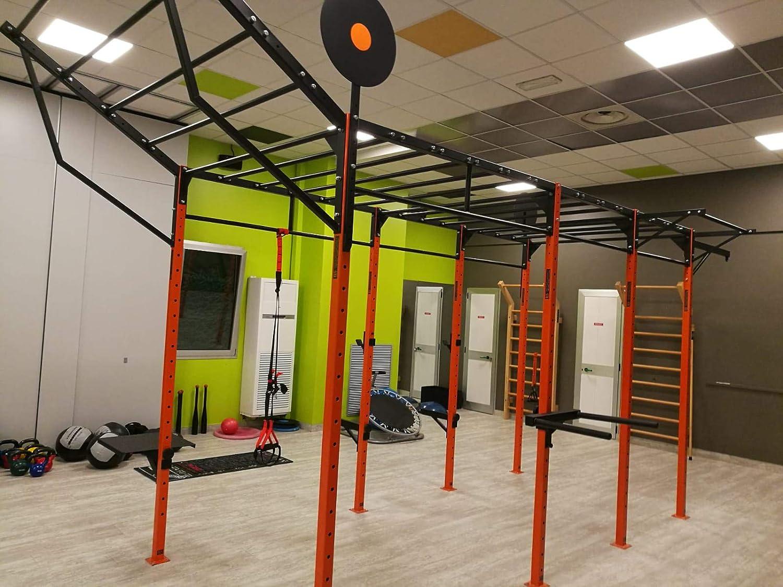 BodyStrongFitness - Estructura inclinada para jaula de entrenamiento con anclajes al suelo/pared, 120 cm de ancho: Amazon.es: Deportes y aire libre