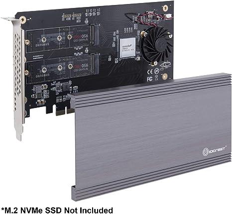 I O Crest Si Pex40129 Dual M 2 Nvme Ports Auf Pcie 3 0 Computer Zubehör