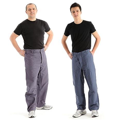 Rensing hombres de ropa de trabajo pantalones de soldadura 100% pantalones de trabajo de algodón