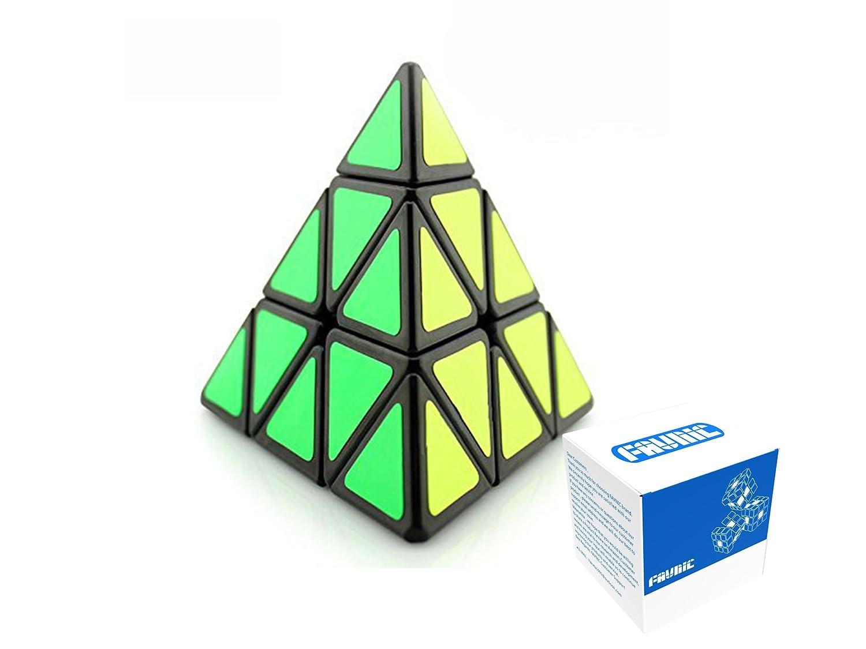 FAVNIC Pyramid Cube, 3x3x3 Pyramid Speed Cube Triangle Magic Cube Puzzle(SSJ3)