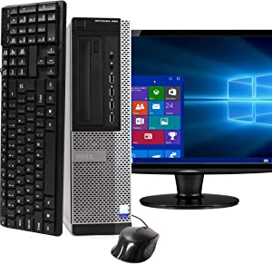 Desktop Computer Package Compatible With Dell OptiPlex 990, Intel Core i5, 16GB RAM, 2TB HDD, DVD, 20 Inch Monitor, Keyboard, Mouse, Bluetooth and WiFi Adapters, Windows 10 Pro (Renewed)