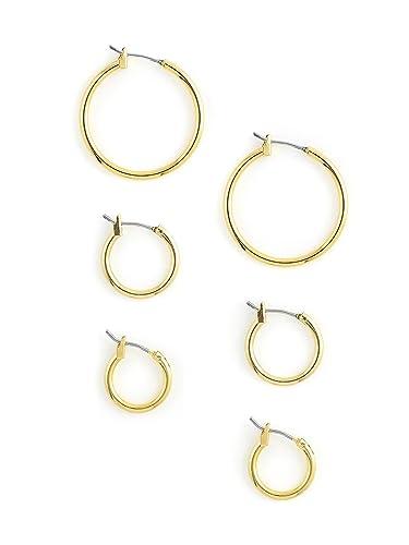 71b0ccd9c784a Amazon.com: Vanessa Mooney Women's Mirage Hoop Earring Set: Jewelry