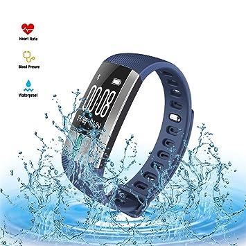 Brazalete de fitness Frecuencia Cardíaca, tensiómetro, dormir supervisión monitior IP67 impermeable Natación Smart Pulsera
