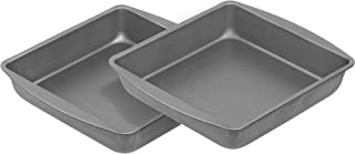 product image for G & S Metal Products Company OvenStuff Nonstick Square Cake Baking Pan 9'', Set of 2, Gray
