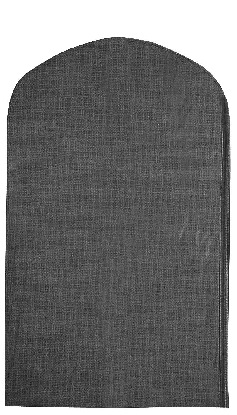 Econoco US540B/B PEVA Taffeta Finish Cover with Full Length Side Zipper, No Oval Window, 3 gauge, 24'' x 40'', Black with Black Trim (Pack of 100)