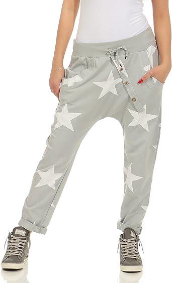 ZARMEXX pantalones de chándal holgados pantalones novio de la ...