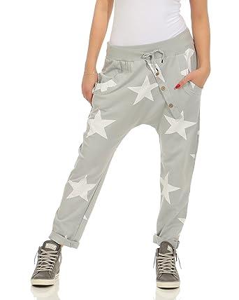 Trendy Damen Sweatpants Baggy Boyfriend Freizeithose Fitness Baumwolle Sommer