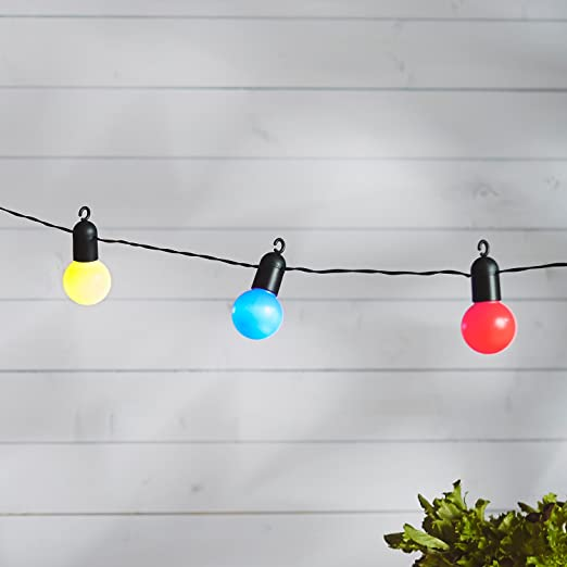 44 opinioni per Catena di 20 luci LED multicolore a forma di lampadina di Lights4fun