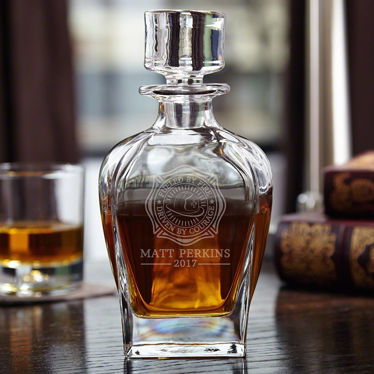 Fueled By Fire Personalized Whiskey Decanter (Custom Product)