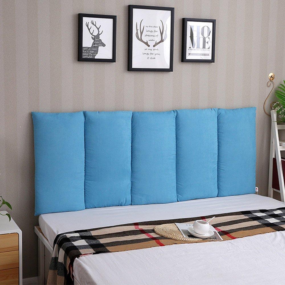 LIXIONG ヘッドボードなし ヘッドボードクッション ソフトベッド 枕 シングルまたはダブル ウォールペースト 大型背もたれ ウエストパッド、 5色 (色 : 青, サイズ さいず : 100x60cm) B07CG85NHN 100x60cm 青 青 100x60cm