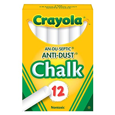 Crayola Nontoxic Anti-Dust Chalk, White, 12 Sticks/Box (50-1402): Toys & Games