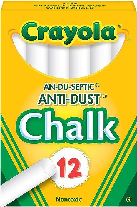 2 x 6 Pack Coloured Chalk Anti Dust Art Craft