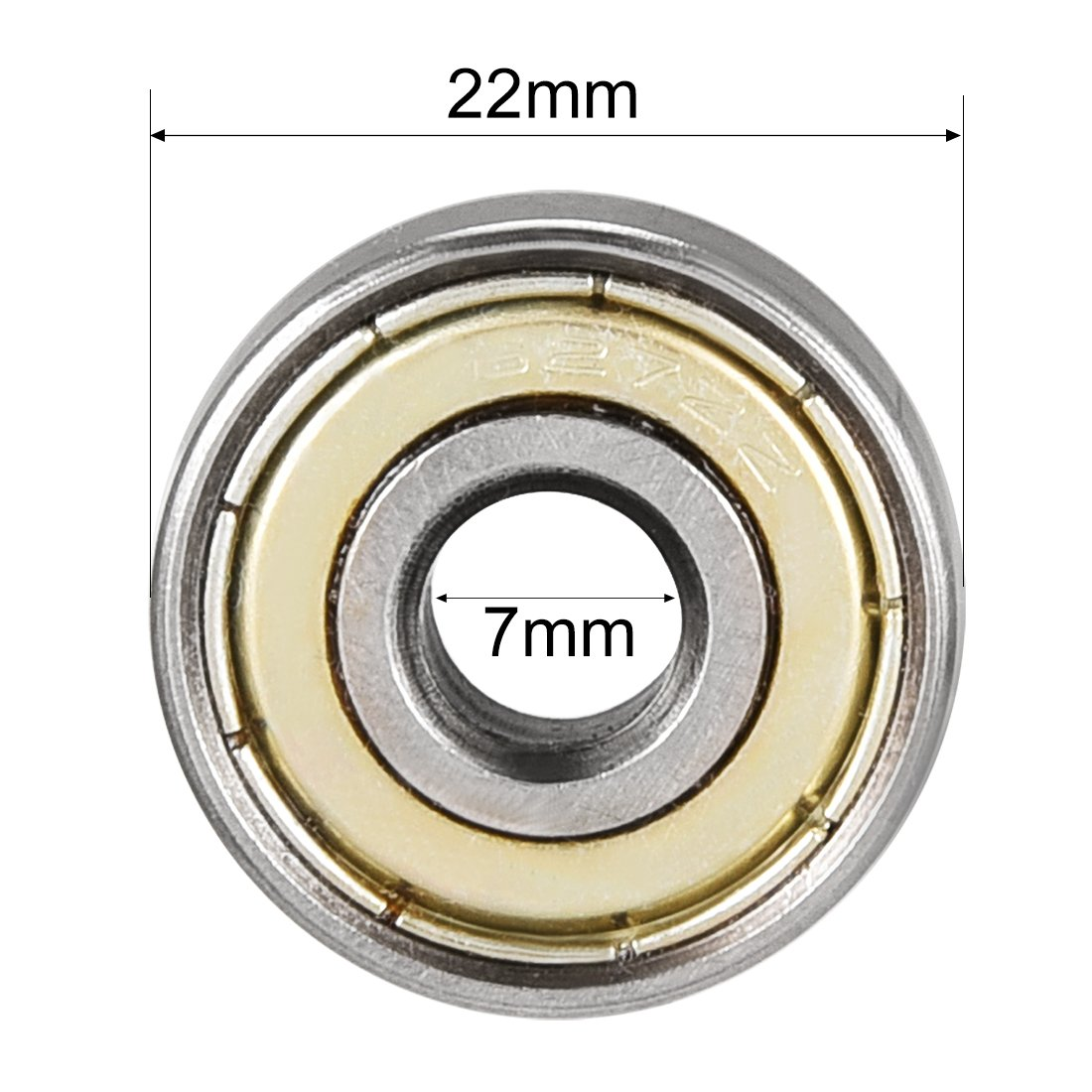 2Z 80027 10/St/ück Sourcingmap Doppelter 627ZZ Rillenkugellager Shield 627 7/mm x 22/mm x 7/mm Carbon Stahl Kugellager