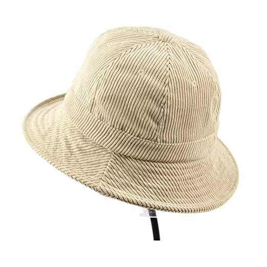 5208537e6f4 Image Unavailable. Image not available for. Color  Corduroy Bucket  Fisherman Cap Sun Protection Cap for Travelling Hip-Hop Fishing
