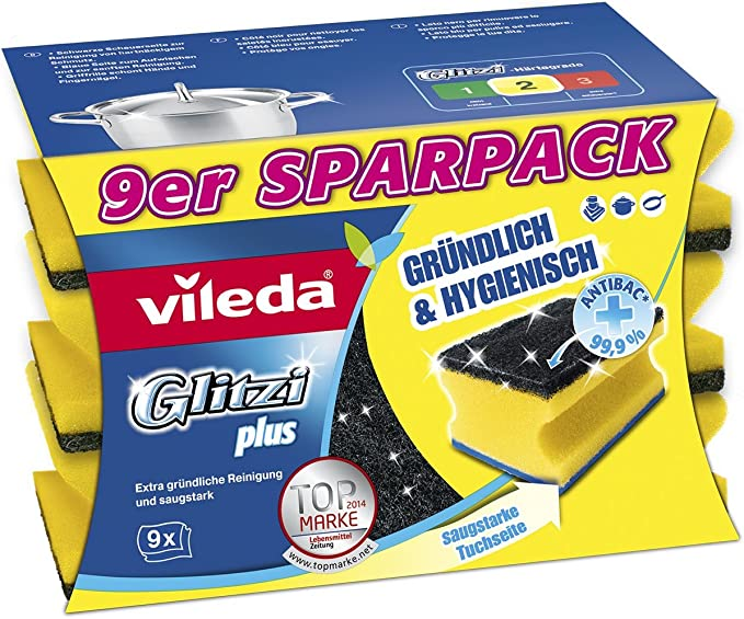 Vileda Glitzi Plus Washing Up Sponge