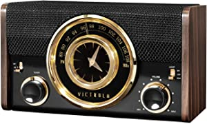 Victrola Bluetooth Analog Clock Radio