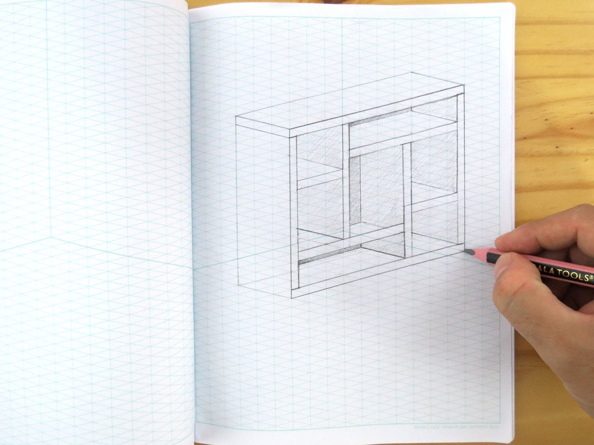 Amazon.com : Koala Tools Wide-Angle Isometric Grid Sketchbook, 7-1/2 x  9-3/4 Inches, 60 sheets : Office Products
