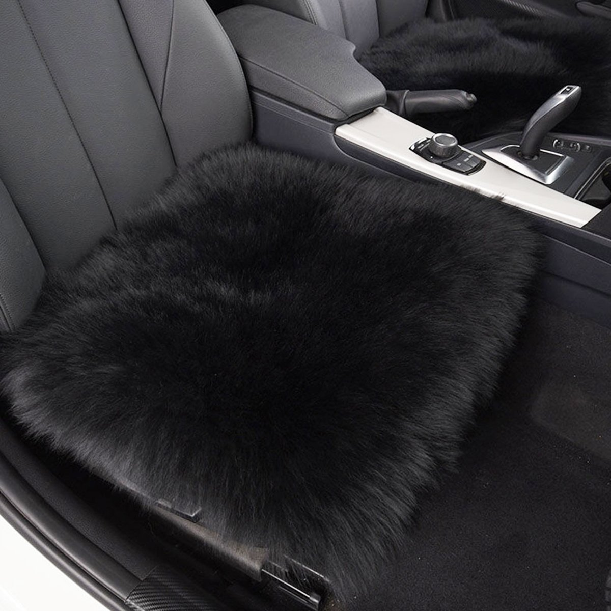 Premium Quality Black Comfortable and Breathable Car Seat cushions for Automobile Zone Tech Faux Wool Seat cushion Office and Home
