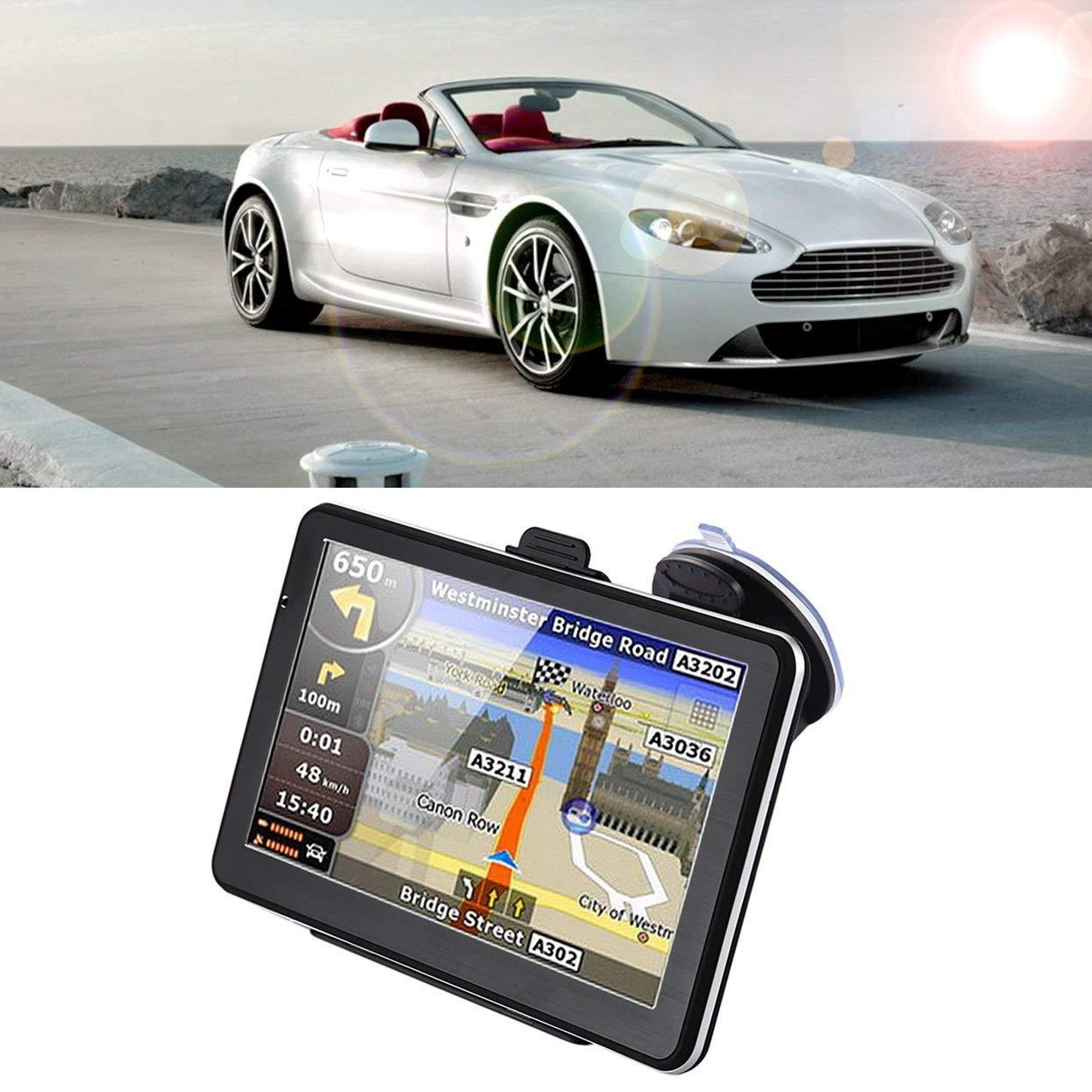 C/ámara de Marcha atr/ás Tellabouu for 710 256M Posici/ón precisa Navegaci/ón GPS para Camiones de 7 Pulgadas 8GB Sensor t/áctil Pantalla capacitiva Navegador FM