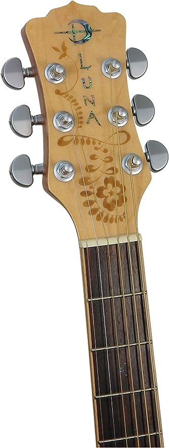 Luna Guitars Oasis HEN O2 SPR - Guitarra acústica para zurdos ...