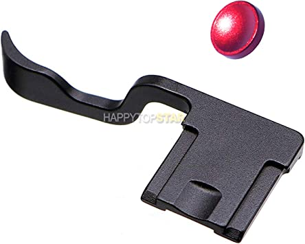 Camera Thumb Thumb-Up Hot Shoe Hotshoe Grip /& Red Concave Soft Shutter Release Button Compatible with Fuji FUJIFILM X-T3 XT3