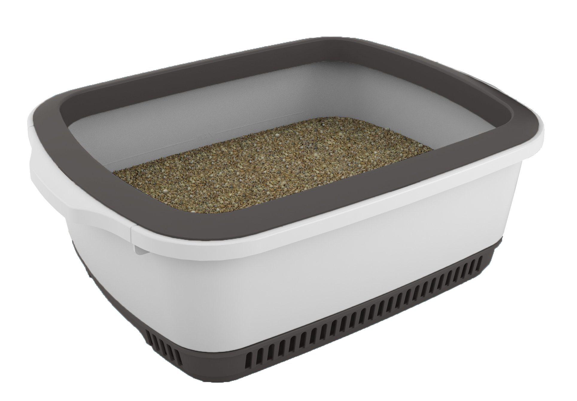 Cateco Self-Drying Litter Box, Grey
