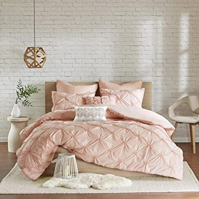 Urban Habitat Talia 7 Piece Embroidered Duvet Cover Set Pink Full/Queen: Home & Kitchen