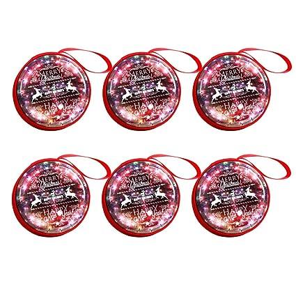 SALIFTY 6pcs Navidad Colgante Decoraciones Portátil Monedas ...