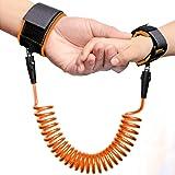 ELTD 迷子防止紐 迷子防止縄 子供 安全 セーフティー 外出用 ベルト ハーネス 手つなぎ 腕掛け ソフト 2色(オレンジ)