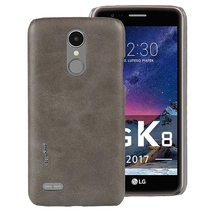 Funda de Piel de Lujo para LG K8 2017 EE. UU. Funda Flip Case para ...