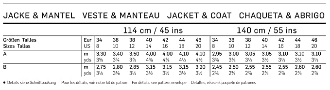 Amazon.com: Burda Jacket and Coat, sewing pattern 6736: Arts, Crafts & Sewing