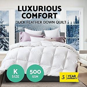 Tontine FACTORY SECOND  Soft As Velvet Super Warm Doona Quilt Single Bed Duvet
