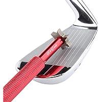 Kit Accessori Golf Affilatore Scanalature Mazze da Golf con 6 Testine (U,V) da K&V Golf Strumento Pulizia Multi-angolo Migliora il Backspin e il Controllo della Palla