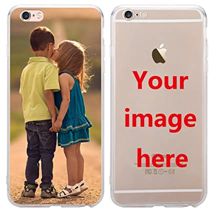 big sale 27436 df8e8 Custom Phone Case for iPhone 7 Plus, Personalized Photo Phone Case , Soft  Protective TPU Bumper, Customized Cover Add Image Painted Print Text Logo  ...