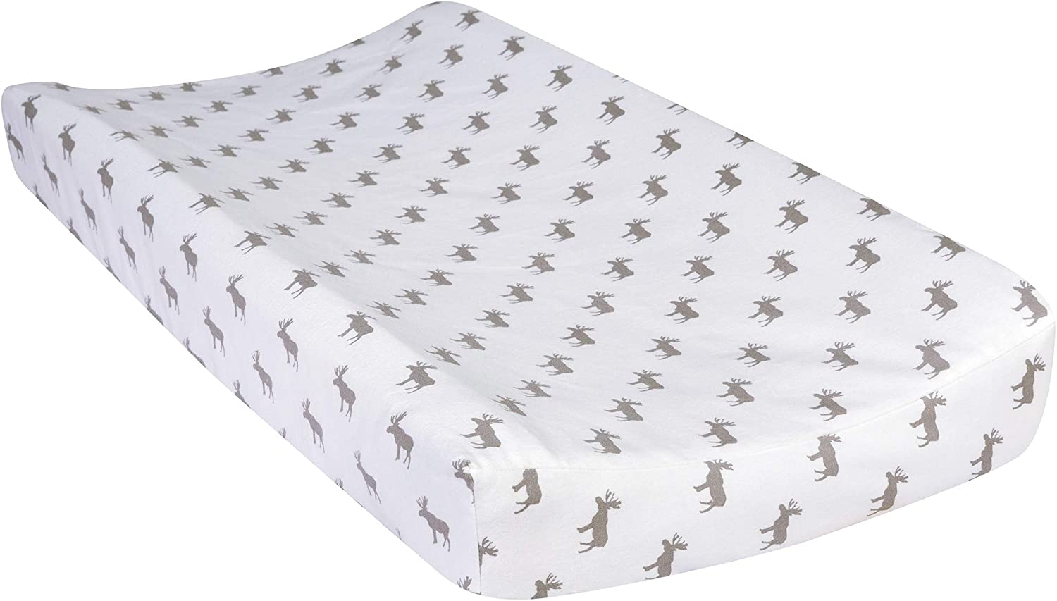 Moose Silhouette Trend Lab Deluxe Flannel Changing Pad Cover