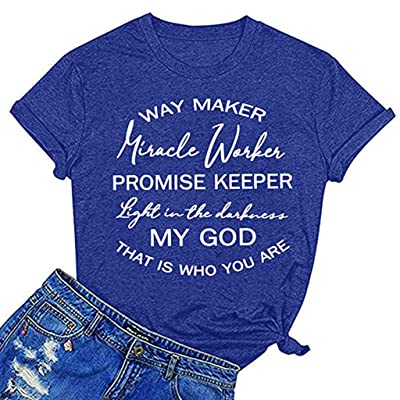 Winsummer Nursing is a Work of Heart T Shirt Womens Short Sleeve Nurse T-Shirt Summer Letter Print Graphic Tees Tops: Clothing