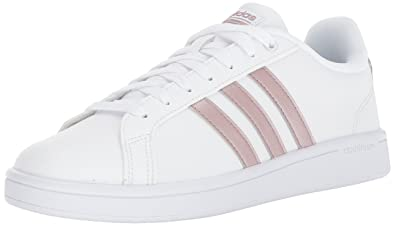 Adidas Womens cf advantage Low Top Lace Up White Size 9.5
