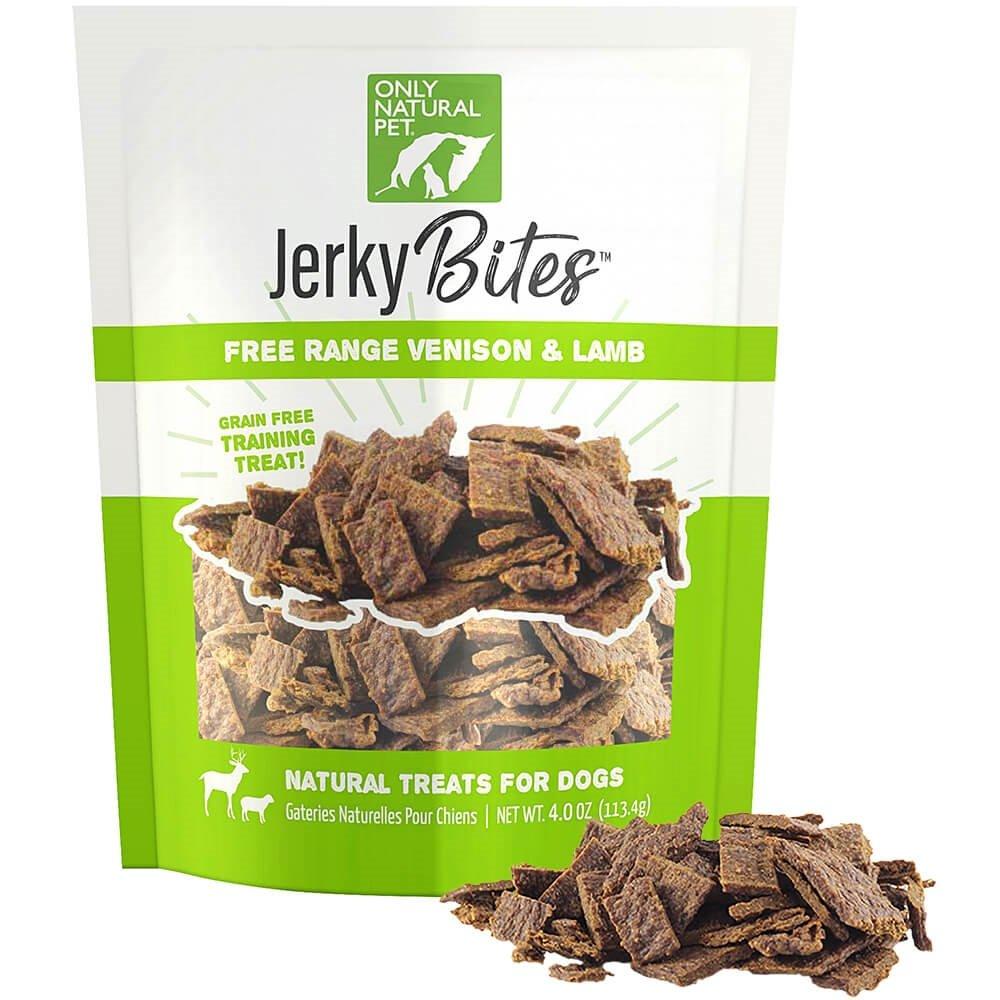 Only Natural Pet Venison & Lamb Jerky Bites 4 oz by Only Natural Pet