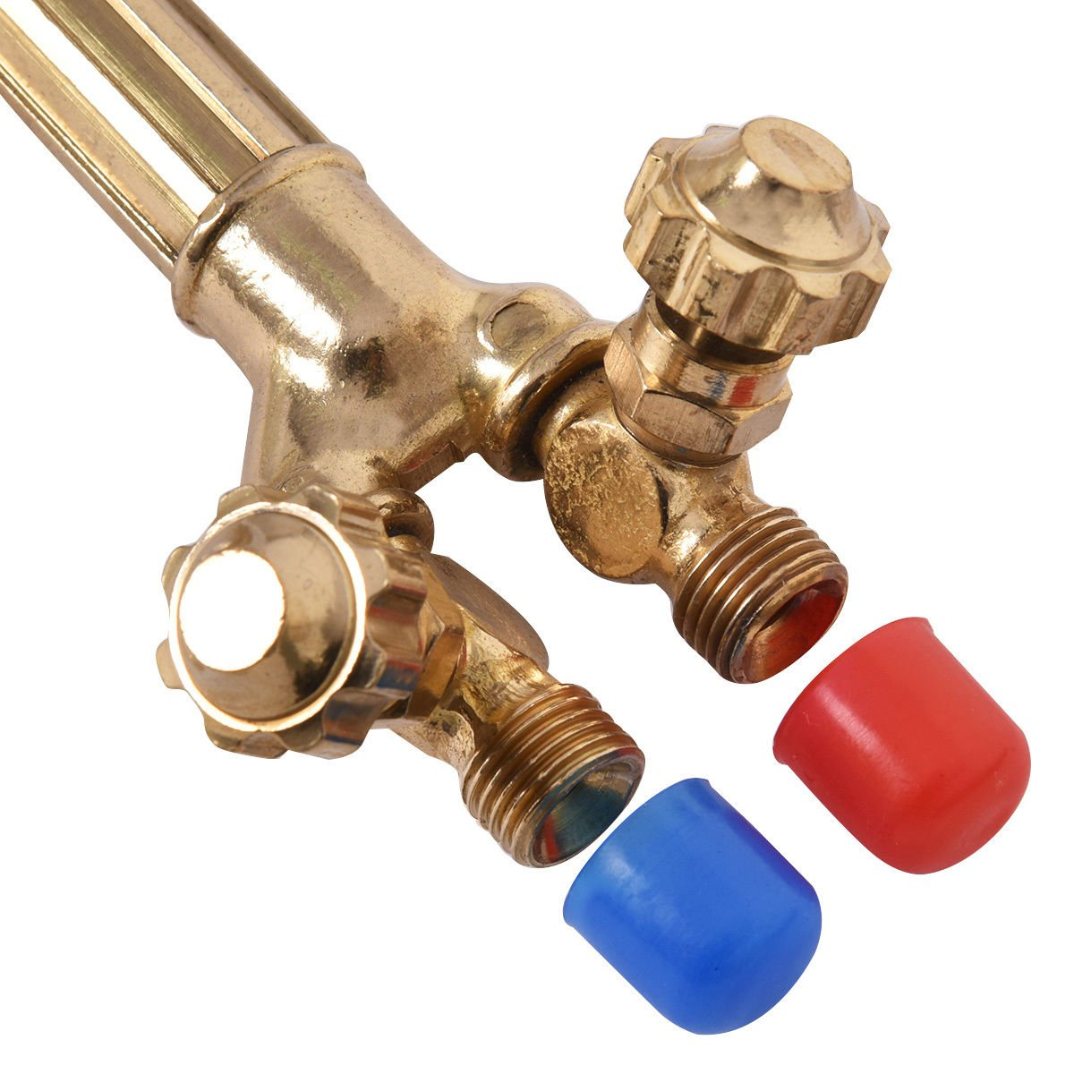 Goplus 10PCS Oxygen /& Acetylene Torch Kit Welding /& Cutting Gas Welder Tool Set w//Case