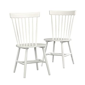 Amazon.com: sauder Cottage – Silla Road Slat Set de 2 ...