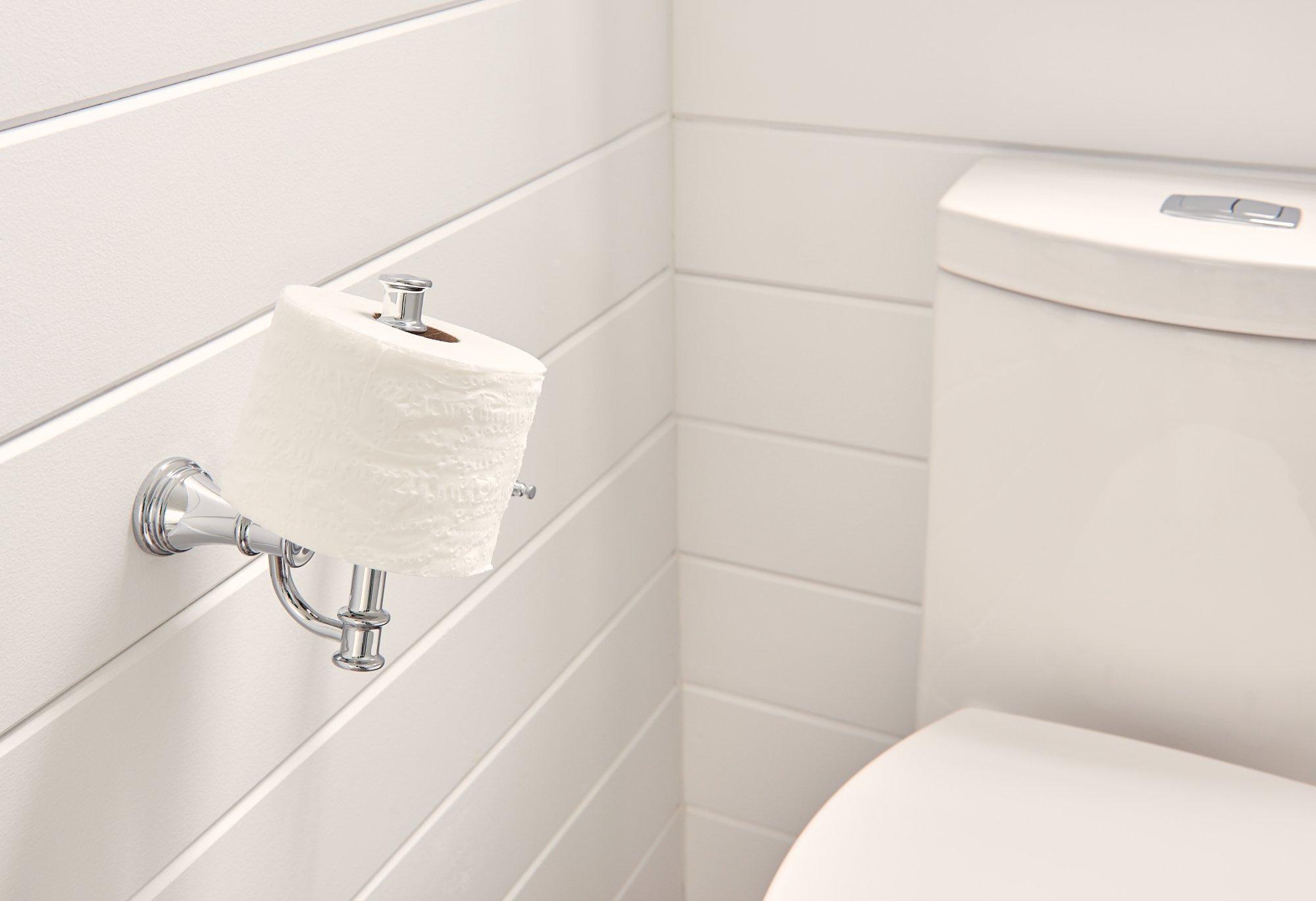 Moen YB6408CH Belfield Pivoting Toilet Paper Holder, Chrome by Moen (Image #3)