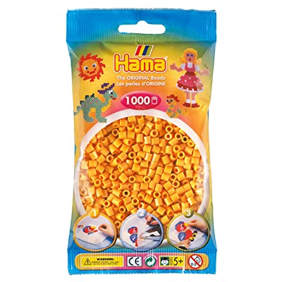 Hama 207-60 Tube Bead Marrón 1000 Pieza(s) - Abalorios (Tube Bead, Marrón, 1000 Pieza(s), Bolsa de plástico): Juguetes y juegos