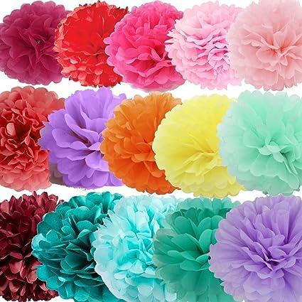 Amazon x sunshine 15pcs 10 12 14 multi colors diy tissue x sunshine 15pcs 10quot 12quot 14quot multi colors diy tissue paper mightylinksfo