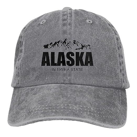 dcf7aead3b51a SARA NELL Unisex Adult Alaska Vintage Adjustable Baseball Cap Denim ...