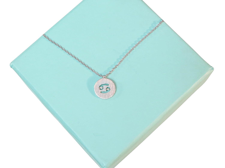 Womens Zodiac Cancer Necklace Dainty Astrology Necklace Cancer Birthday Necklace 17 in Chain Emmas Jewelry Co