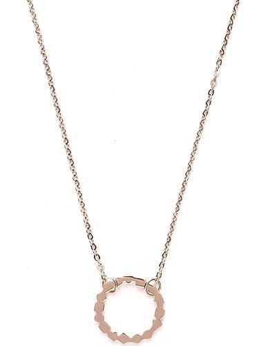 128d2123ec3a Happiness Boutique Damas Collar de Colgante Círculo en Oro Rosa ...