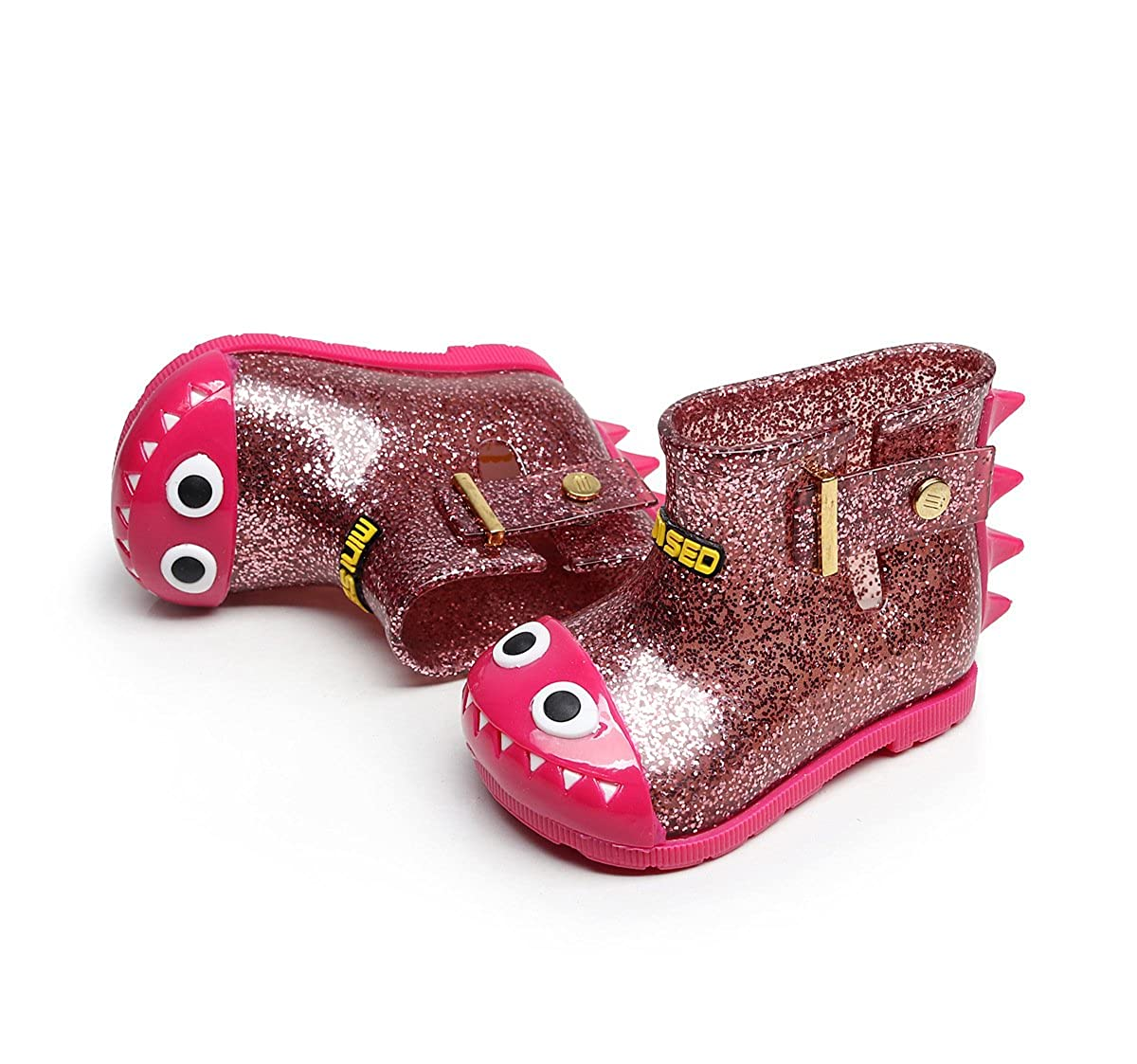 Toddler Children Kids Baby Boy Girl Dinosaur Waterproof Shoes Rain Boots Booties