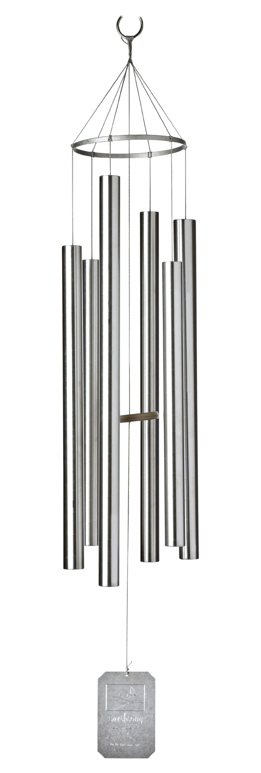 Grace Note Chimes LAUT Large Autumn Seasonal Harmonizing Wind Chimes, 56-Inch, Silver